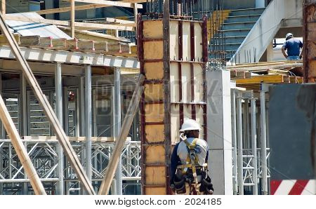 Man Working On A Concrete Form