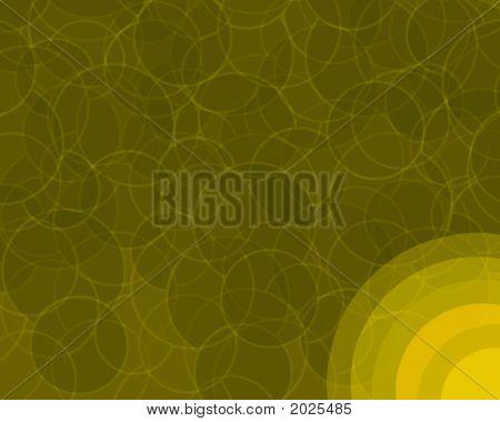 Orange Retro Circles Background