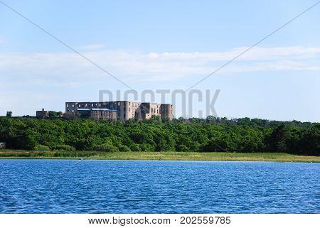 Borgholm castle ruin at the swedish island Oland in the Baltic Sea