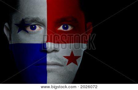Panamanian Flag - Male Face