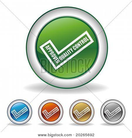 vector validation icon set