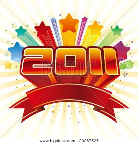 vector illustration of new year 2011