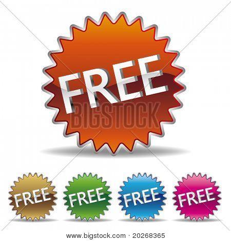 vector free starburst label set
