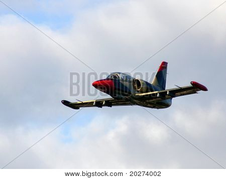 Fighter aircraft in the air