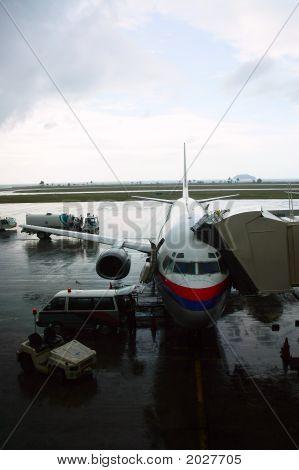 Boarding Into A Plane