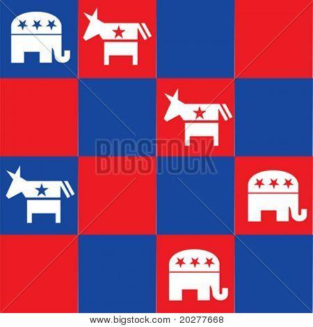 Political chess, conceptual vector illustration