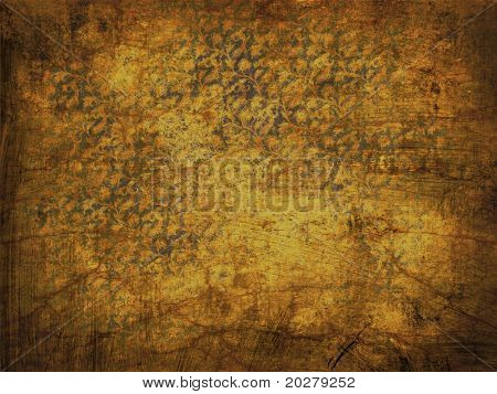 Ornamental, floral, retro grunge background