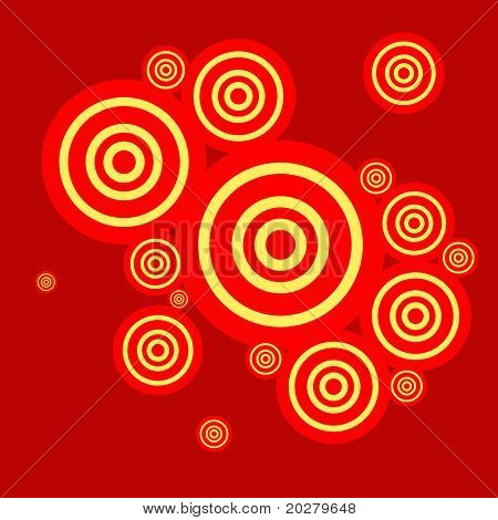 Abstract retro color circles illustration