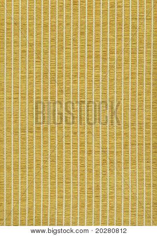 closeup of a woven bamboo mat