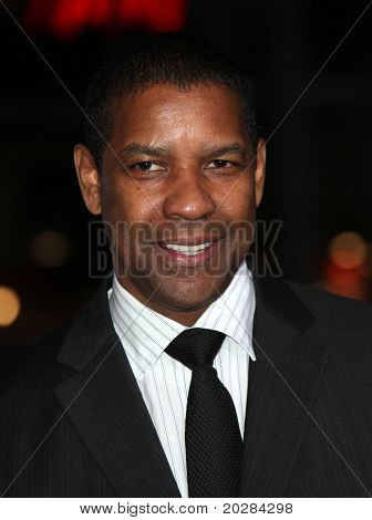 LOS ANGELES - JAN 11:  Denzel Washington arrives to the 'The Book of Eli' Los Angeles Premiere  on January 11,2009 in Hollywood, CA