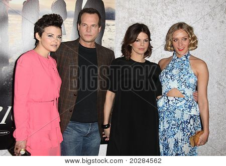 LOS ANGELES - JAN 12:  Ginnifer Goodwin, Bill Paxton, Jeanne Tripplehorn & Chloe Sevigny arrives at the Season 5 premiere of