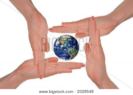 Women'S Hands Around The Earth