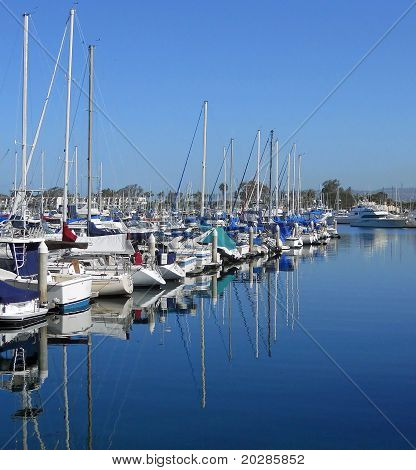 Reflections At A Marina