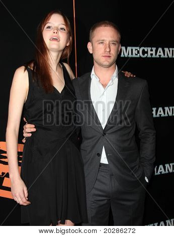 "LOS ANGELES - JAN 25:  Ben Foster & Date arrives at the ""The Mechanic"" Los Angeles Premiere  on January 25, 2011 in Hollywood, CA"