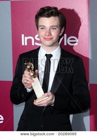 LOS ANGELES - JAN 16:  Chris Colfer arrives to the 12th Annual WB-In Style Golden Globe After Party  on January 16, 2011 in Beverly Hills CA