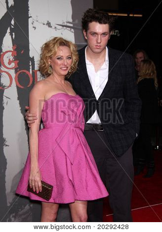 LOS ANGELES - MAR 07: Virginia Madsen & nephew Christian arrives at the