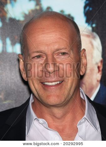 LOS ANGELES - MAR 22:  Bruce Willis arrives to 'His Way' Los Angeles Premiere  on March 22, 2011 in Hollywood, CA