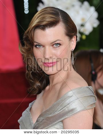 LOS ANGELES - JAN 16:  Milla Jovovich arrives to the 68th Annual Golden Globe Awards  on January 16, 2011 in Beverly Hills, CA