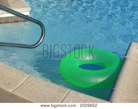 Green Pool Float Toy Ring