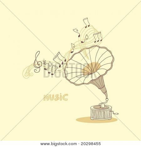 music composition with gramophone