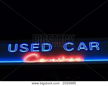 Neon Used Car Center Neon Sign