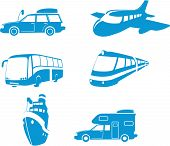 Transport & Travel Icons poster
