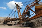 Giant Steel Overburden Excavator Open The Coal Mine