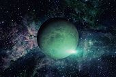 Planet Uranus. Elements Of This Image Furnished By Nasa. poster