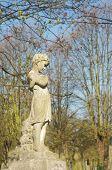 stock photo of cherubim  - beautiful statue in english cemetery - JPG