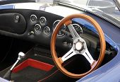 picture of speedo  - The dashboard of a blue Cobra sports car - JPG