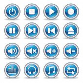 stock photo of beep  - collection of media player glossy buttons - JPG
