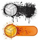 Постер, плакат: элемент дизайна спорта волейбол