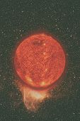 Solar System - Sun. Elements Of This Image Furnished By Nasa. poster