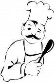 Funny Cook With Spoon Winking poster
