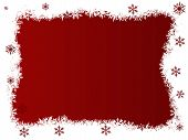 White And Red Snowflake Christmas Border