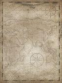 Old treasure map vertical illustration background poster