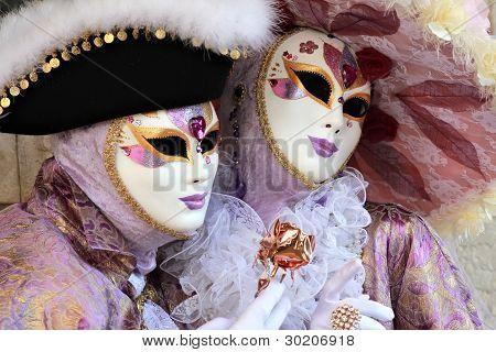 Noble And Elegant Couple Masked