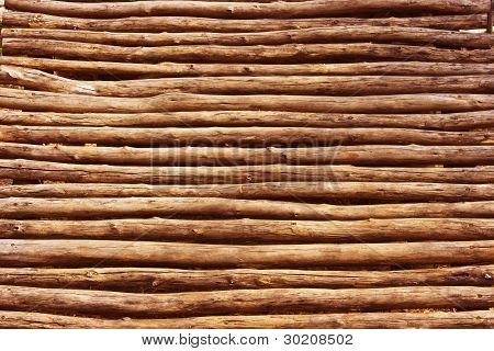 Wooden fence to dry.
