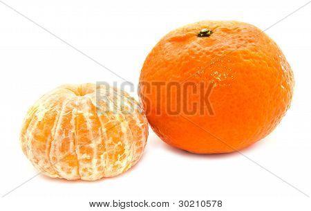 Mandarin Tangerine Isolated On A White