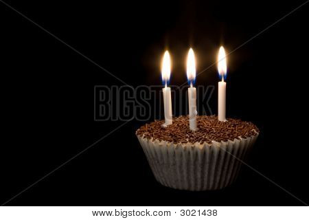 Cupcake With Candles