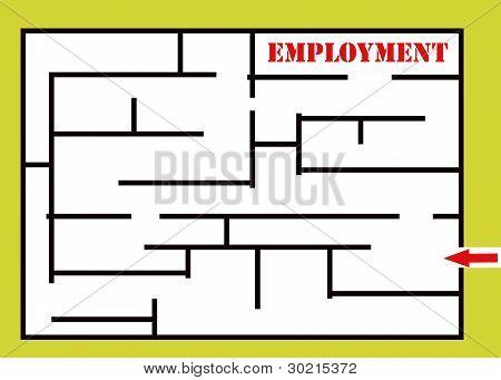 Beschäftigung-Labyrinth