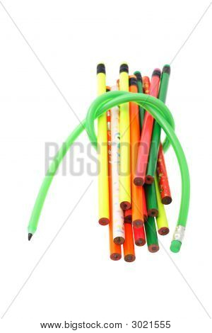 Long Flexible Green Pencil