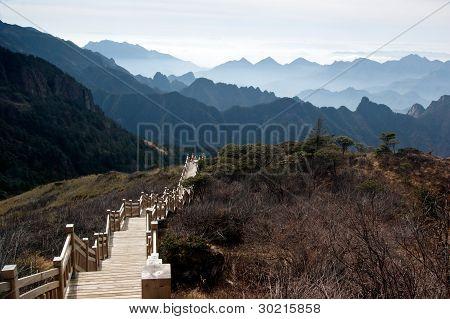 China Hubei Shennongjia Mountains landscape