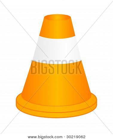 Vector Orange Highway Traffic Cone