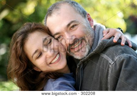 Laughing Couple Outdoors