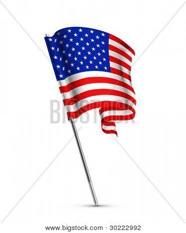 US-amerikanische Flagge, Vektor