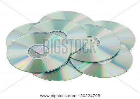Scattered Pile Of Cds