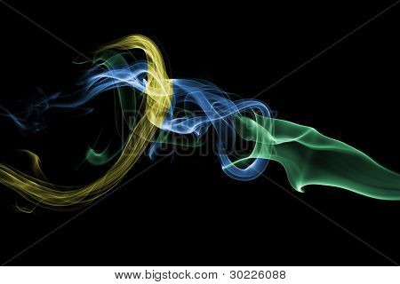 Abstract Smoke - Green Blue Yellow