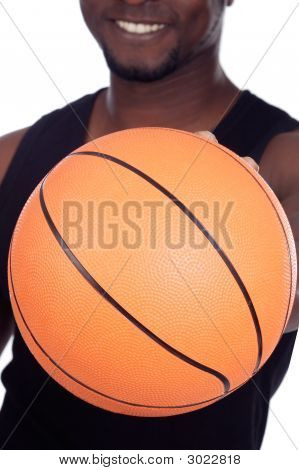 Person Whit Basketball Ball