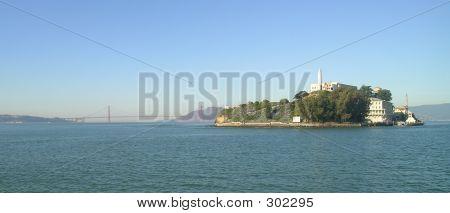 Alcatraz And Golden Gate Bridge